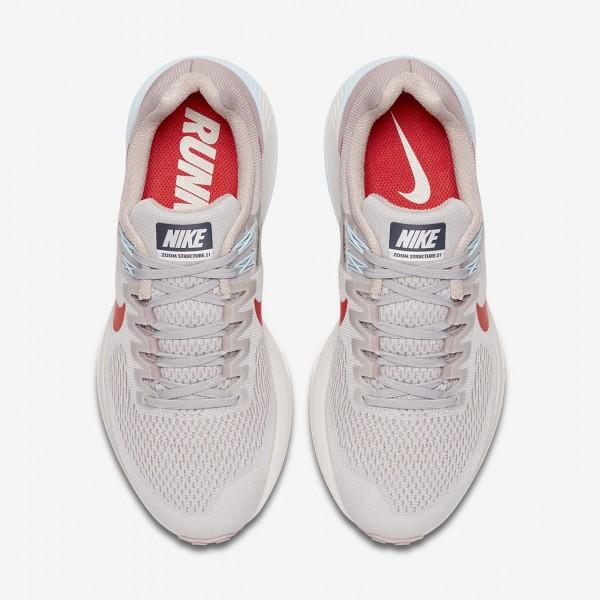 Nike Air Zoom Structure 21 Laufschuhe Damen Grau Rosa Blau Rot 894-73408
