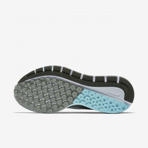 Nike Air Zoom Structure 21 Laufschuhe Damen Dunkelolive Blau Weiß Platin 297-22622