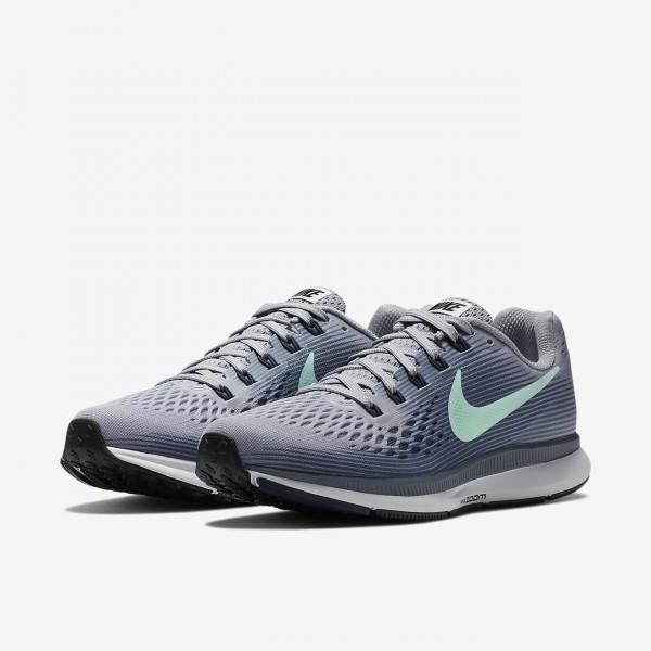 Nike Air Zoom Pegasus 34 Laufschuhe Damen Lila Hellgrau Grün Weiß 394-70888