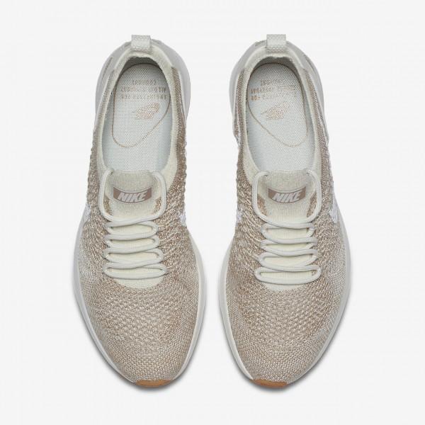 Nike Air Zoom Mariah Flyknit Racer Freizeitschuhe Damen Weiß Sand Gelb 445-95526
