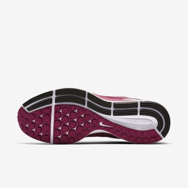 Nike Air Zoom Pegasus 34 Gem Laufschuhe Damen Fuchsie Braun Bordeaux Weiß 375-25496