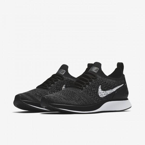 Nike Air Zoom Mariah Flyknit Racer Freizeitschuhe Damen Schwarz Dunkelgrau Weiß 425-54105