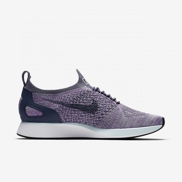 Nike Air Zoom Mariah Flyknit Racer Freizeitschuhe Damen Hellgrau Weiß Blau 322-58160