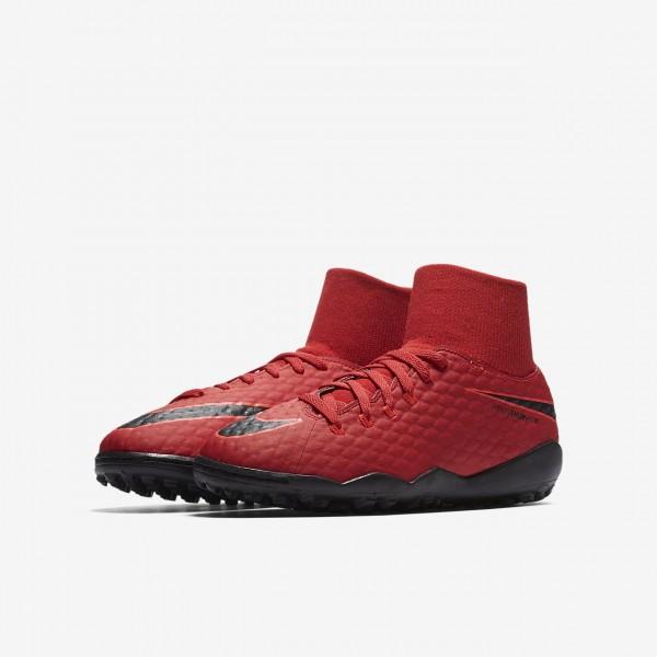 Nike Jr. Hypervenomx Phelon III Dynamic Fit Tf Fußballschuhe Jungen Rot Schwarz 121-41785