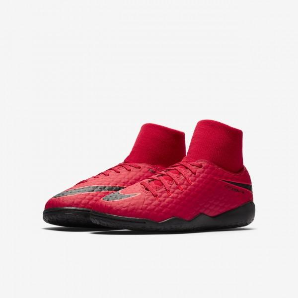 Nike Jr. Hypervenomx Phelon III Dynamic Fit Ic Fußballschuhe Jungen Rot Schwarz 105-82417