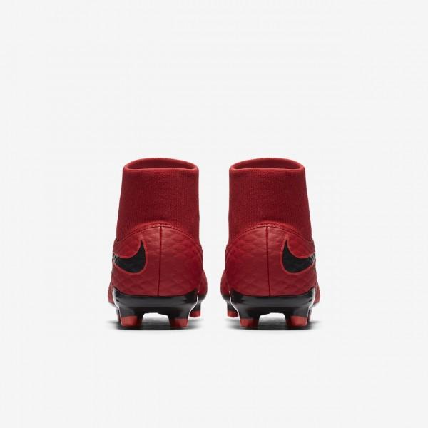 Nike Jr. Hypervenom Phelon III Dynamic Fit Fg Fußballschuhe Jungen Rot Schwarz 745-51947