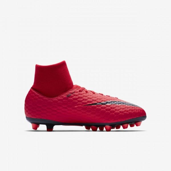 Nike Jr. Hypervenom Phelon III Dynamic Fit Ag-pro Fußballschuhe Jungen Rot Schwarz 686-10684