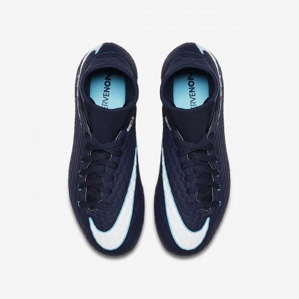 Nike Jr. Hypervenom Phelon III Dynamic Fit Fg Fußballschuhe Jungen Obsidian Blau Weiß 663-54404