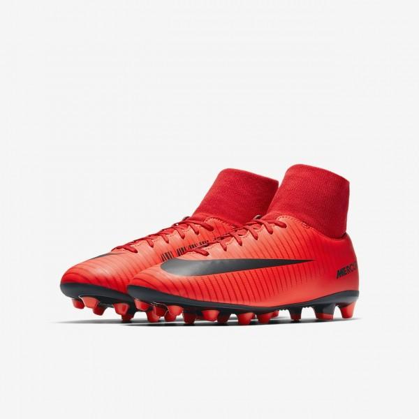 Nike Jr. Mercurial Victory VI Dynamic Fit Ag-pro Fußballschuhe Jungen Rot Schwarz 781-86033