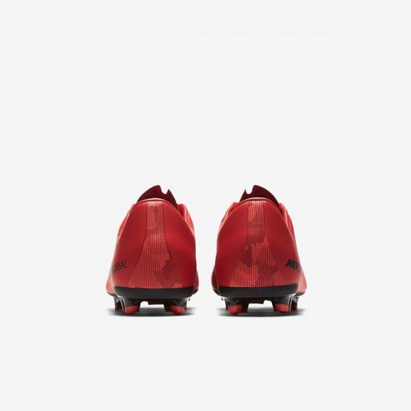 Nike Jr. Mercurial Vapor XI Fg Fußballschuhe Jungen Rot Schwarz 126-46835