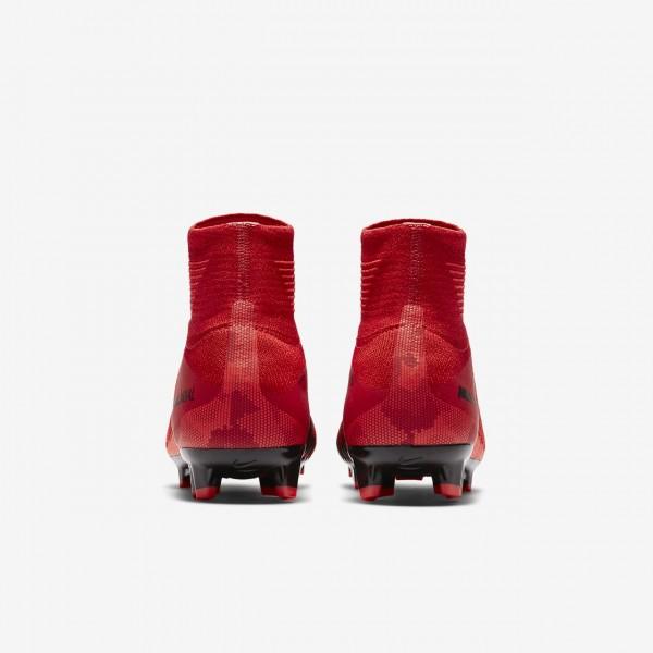 Nike Jr. Mercurial Superfly V Dynamic Fit Fg Fußballschuhe Jungen Rot Schwarz 749-95659