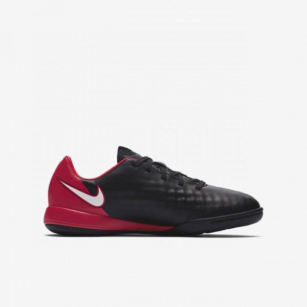 Nike Jr. Magistax Onda II Ic Fußballschuhe Jungen Schwarz Rot Weiß 477-84044
