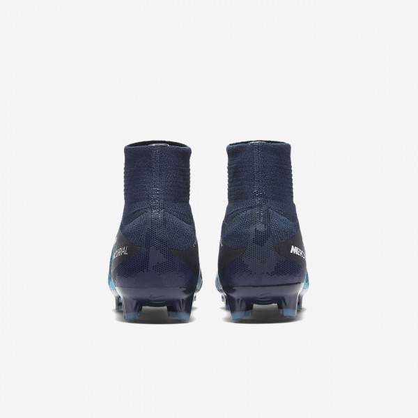 Nike Jr. Mercurial Superfly V Dynamic Fit Fg Fußballschuhe Jungen Obsidian Blau Weiß 524-73949