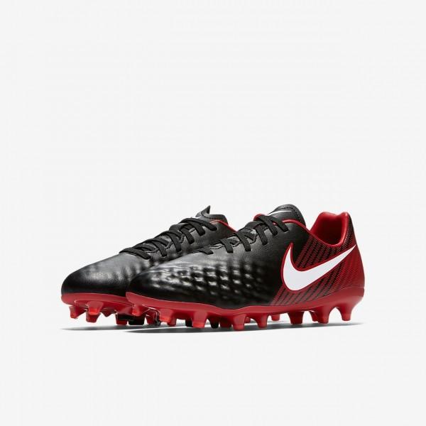 Nike Jr. Magista Onda II Fg Fußballschuhe Jungen Schwarz Rot Weiß 577-45658