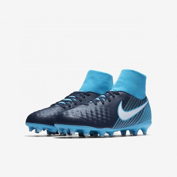 Nike Jr. Magista Onda II Dynamic Fit Fg Fußballschuhe Jungen Obsidian Blau Weiß 761-49348