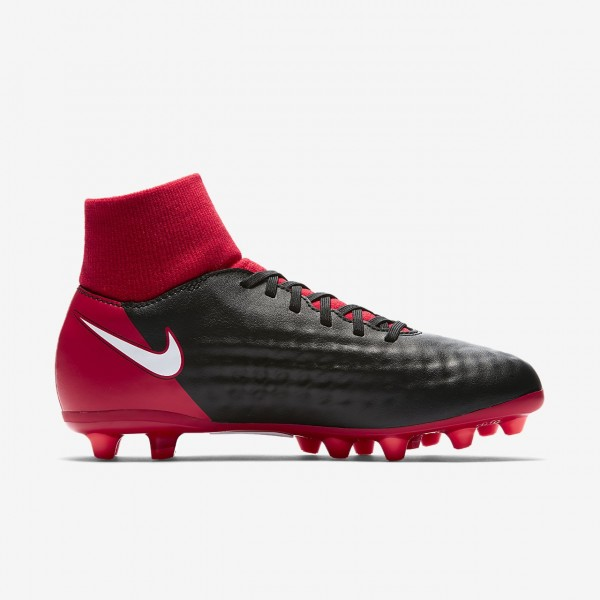 Nike Jr. Magista Onda II Dynamic Fit Ag-pro Fußballschuhe Jungen Schwarz Rot Weiß 787-59239