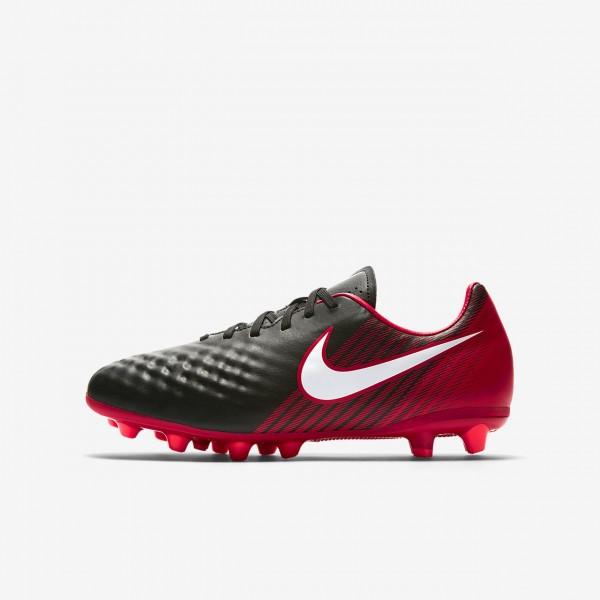 Nike Jr. Magista Onda II Ag-pro Fußballschuhe Jungen Schwarz Rot Weiß 651-83553
