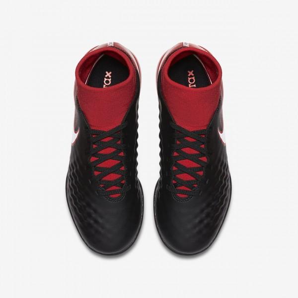 Nike Jr. Magistax Onda II Dynamic Fit Tf Fußballschuhe Jungen Schwarz Rot Weiß 211-33403