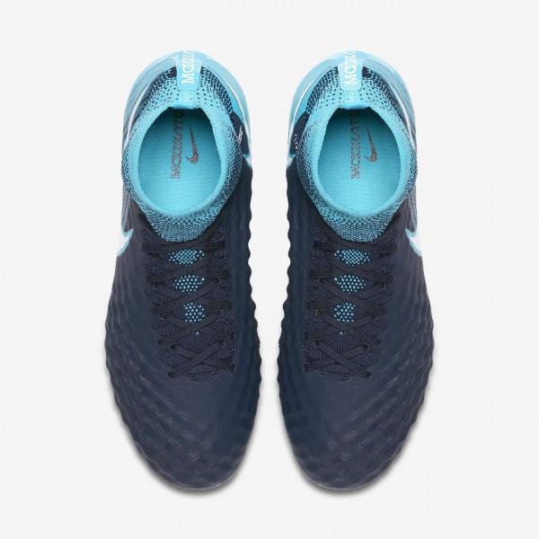 Nike Jr. Magista Obra II Fg Fußballschuhe Jungen Obsidian Blau Weiß 459-62352