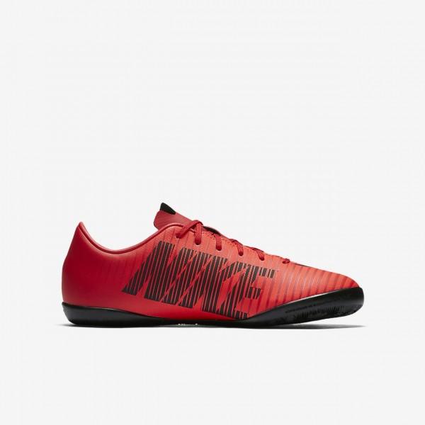 Nike Jr. Mercurial Victory VI Ic Fußballschuhe Jungen Rot Schwarz 593-53779
