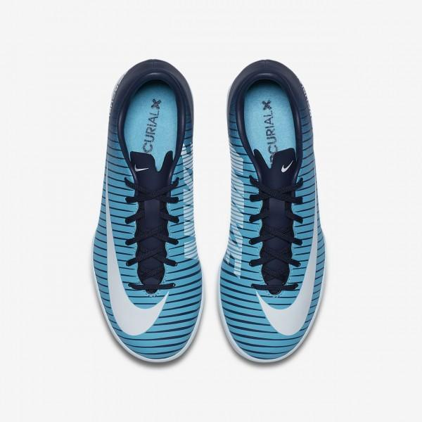 Nike Jr. Mercurial Victory VI Ic Fußballschuhe Jungen Obsidian Blau Weiß 738-22679