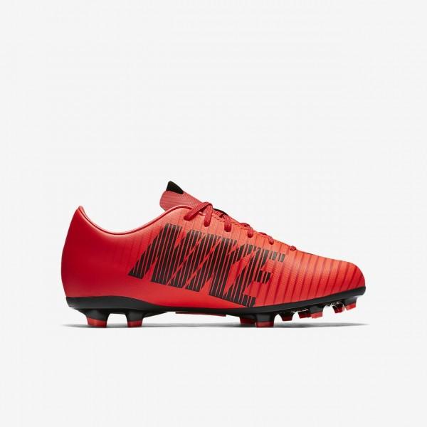 Nike Jr. Mercurial Victory VI Fg Fußballschuhe Jungen Rot Schwarz 898-63211