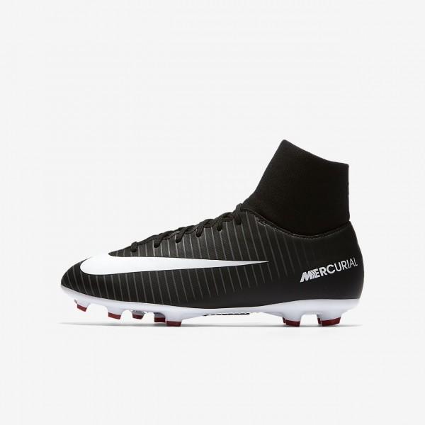 Nike Jr. Mercurial Victory VI Dynamic Fit Fußballschuhe Jungen Schwarz Dunkelgrau Rot Weiß 841-39592