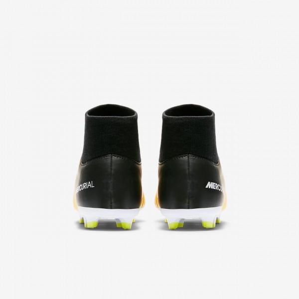 Nike Jr. Mercurial Victory VI Dynamic Fit Fußballschuhe Jungen Orange Weiß Grün Schwarz 351-25065