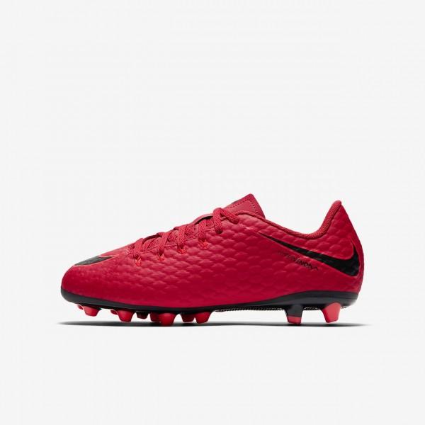 Nike Jr. Hypervenom Phelon III Ag-pro Fußballschuhe Jungen Rot Schwarz 670-41437