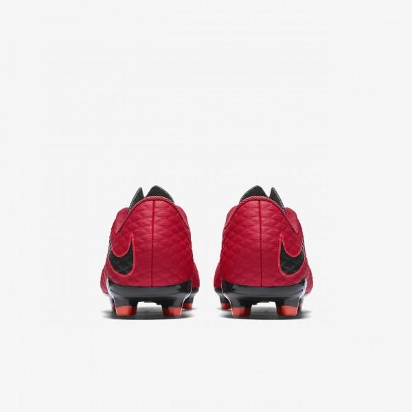 Nike Jr. Hypervenom Phelon 3 Fg Fußballschuhe Jungen Rot Schwarz 566-76735