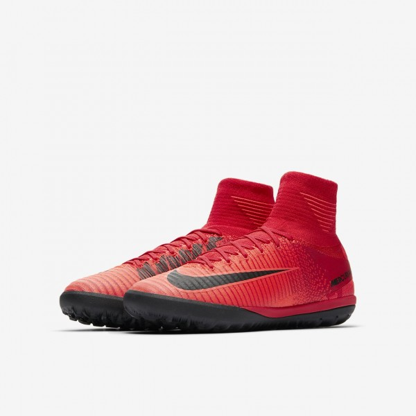 Nike Jr Mercurialx Proximo II Tf Fußballschuhe Jungen Rot Schwarz 412-30974