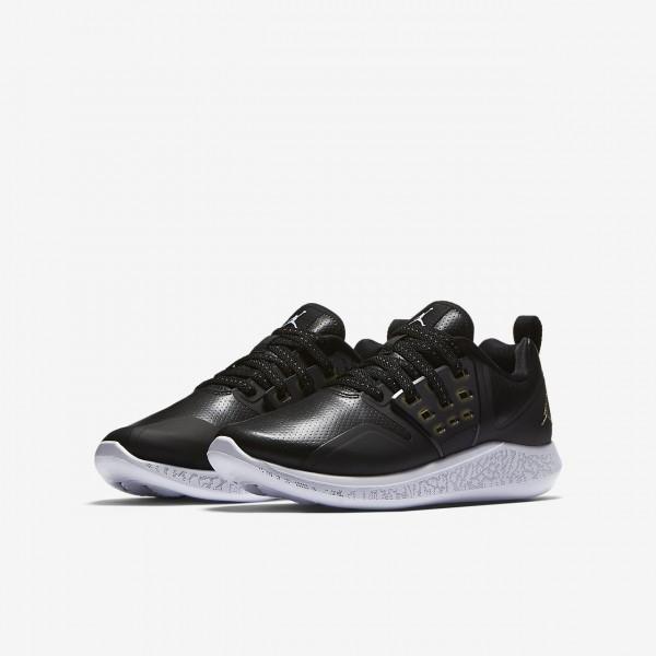 Nike Jordan Grind Trainingsschuhe Jungen Schwarz Weiß Metallic Gold 512-28479