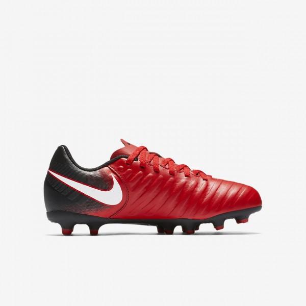 Nike Jr. Tiempo Rio Iv Fg Fußballschuhe Mädchen Schwarz Rot Weiß 237-30966