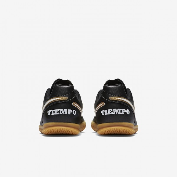 Nike Jr. Tiempo Rio III Ic Fußballschuhe Mädchen Schwarz Weiß 191-14798