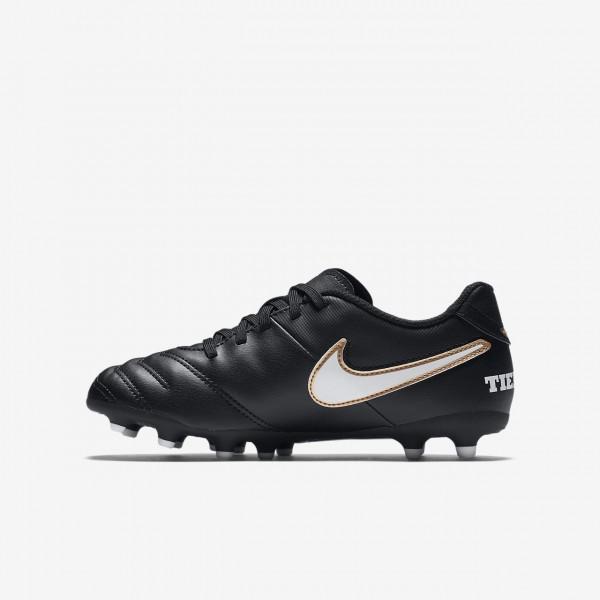 Nike Jr. Tiempo Rio III Fg Fußballschuhe Mädchen Schwarz Weiß 232-43807