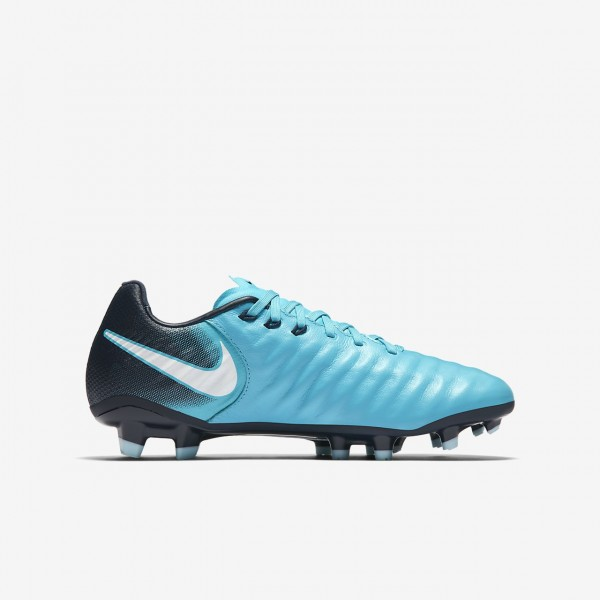Nike Jr. Tiempo Legend Vii Fg Fußballschuhe Mädchen Blau Obsidian Weiß 831-94405