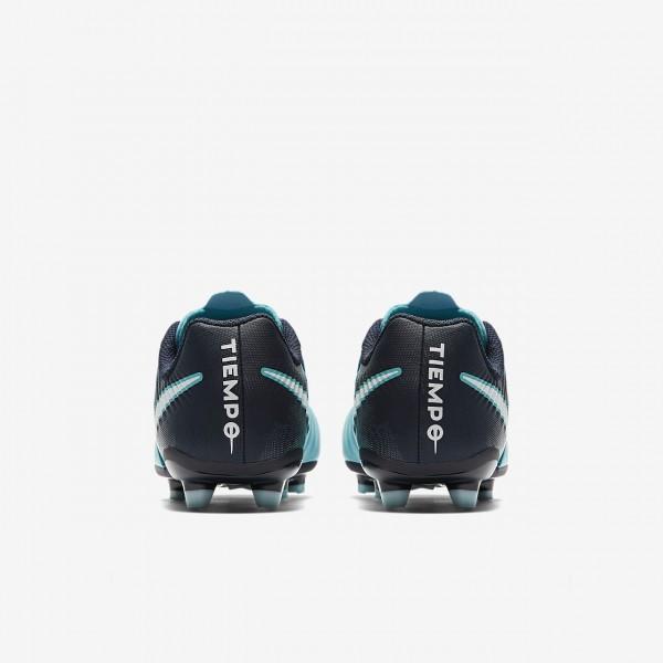 Nike Jr. Tiempo Ligera Iv Fg Fußballschuhe Mädchen Blau Obsidian Weiß 385-33060