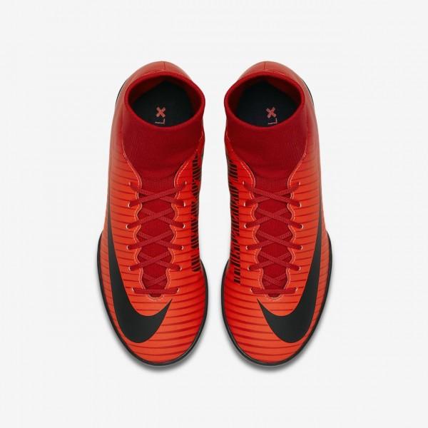 Nike Jr. Mercurialx Victory VI Dynamic Fit Tf Fußballschuhe Mädchen Rot Schwarz 248-45081