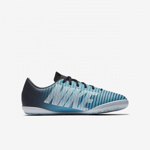 Nike Jr. Mercurial Victory VI Ic Fußballschuhe Mädchen Obsidian Blau Weiß 612-14773
