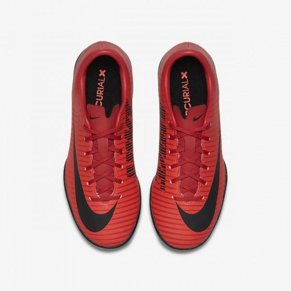 Nike Jr. Mercurial Victory VI Ic Fußballschuhe Mädchen Rot Schwarz 455-41571