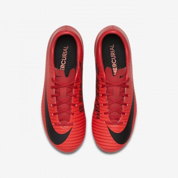 Nike Jr. Mercurial Victory VI Fg Fußballschuhe Mädchen Rot Schwarz 816-72620