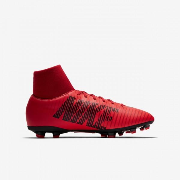 Nike Jr. Mercurial Victory VI Dynamic Fit Fg Fußballschuhe Mädchen Rot Schwarz 388-35813