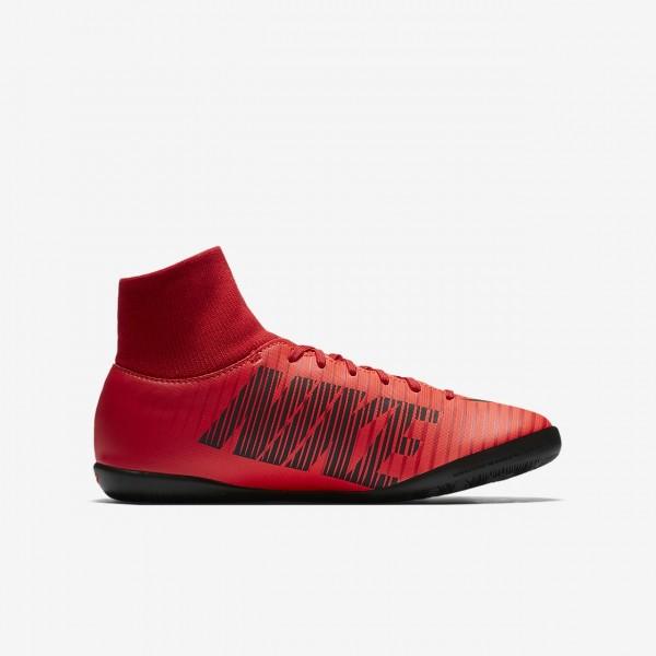 Nike Jr. Mercurialx Victory VI Dynamic Fit Ic Fußballschuhe Mädchen Rot Schwarz 404-58780