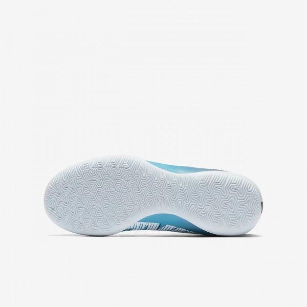 Nike Jr. Mercurialx Victory VI Dynamic Fit Ic Fußballschuhe Mädchen Blau Weiß 583-21108