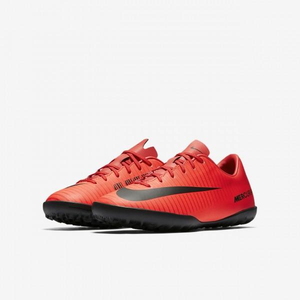 Nike Jr. Mercurial Victory VI Tf Fußballschuhe Mädchen Rot Schwarz 513-41383