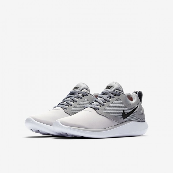 Nike Lunarsolo Laufschuhe Mädchen Platin Grau Schwarz 693-53713