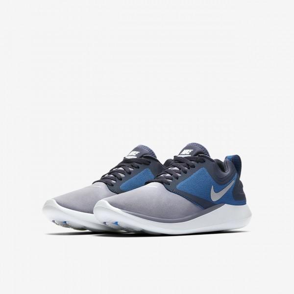 Nike Lunarsolo Laufschuhe Mädchen Obsidian Tiefes Königsblau Blau Rot Metallic Silber 744-89169