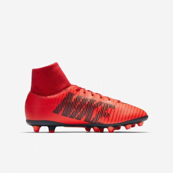 Nike Jr. Mercurial Victory VI Dynamic Fit Ag-pro Fußballschuhe Mädchen Rot Schwarz 529-56761