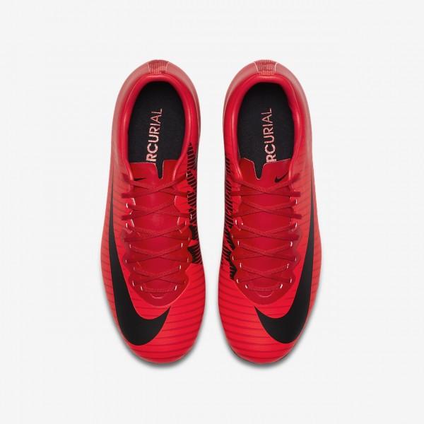 Nike Jr. Mercurial Vapor XI Fg Fußballschuhe Mädchen Rot Schwarz 801-88757