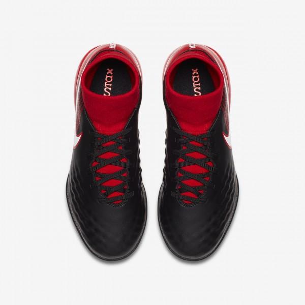 Nike Jr. Magistax Onda II Dynamic Fit Ic Fußballschuhe Mädchen Schwarz Rot Weiß 144-91658